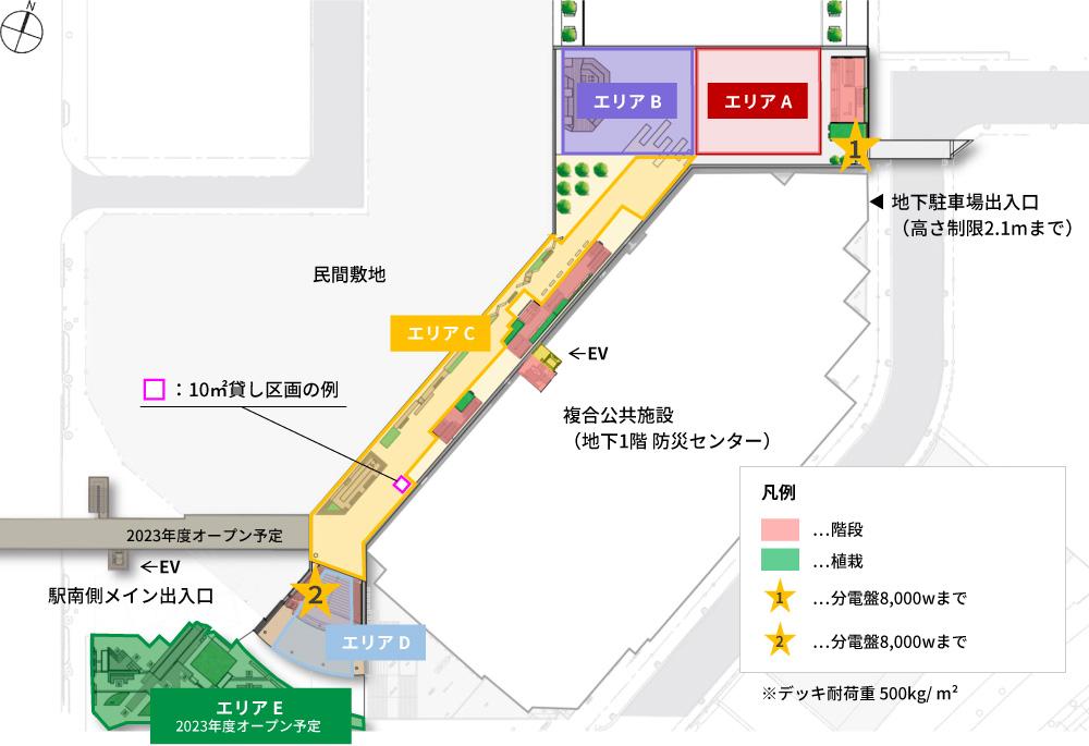 周辺施設の地図